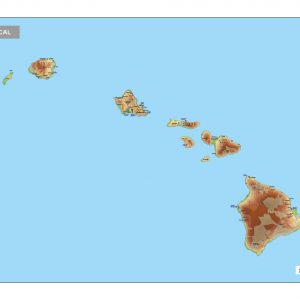Physical map Hawaii