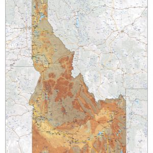 Physical map Idaho