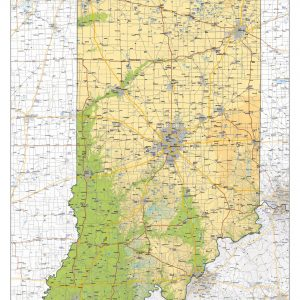 Physical map Indiana