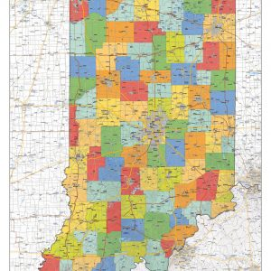 Political map Indiana
