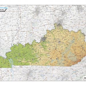 Physical map Kentucky